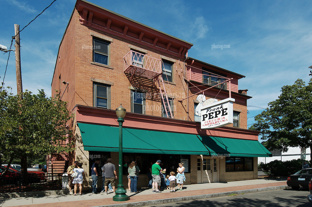"""The Original Pepe's Pizzeria New Haven, CT """"Old Reliable"""" on a weekday afternoon around 3:30 as the line forms"""