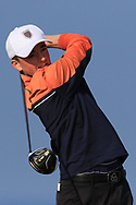 Max Kennedy on the 1st tee during Round 4 of The West of Ireland Open Championship in Co. Sligo Golf Club, Rosses Point, Sligo on Sunday 7th April 2019.<br /> Picture:  Thos Caffrey / www.golffile.ie