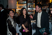 SABEEN JATOI; FATIMA BHUTTO; BILAL SETHI, Henry Porter hosts a launch for Songs of Blood and Sword by Fatima Bhutto. The Artesian at the Langham London. Portland Place. 15 April 2010. *** Local Caption *** -DO NOT ARCHIVE-© Copyright Photograph by Dafydd Jones. 248 Clapham Rd. London SW9 0PZ. Tel 0207 820 0771. www.dafjones.com.<br /> SABEEN JATOI; FATIMA BHUTTO; BILAL SETHI, Henry Porter hosts a launch for Songs of Blood and Sword by Fatima Bhutto. The Artesian at the Langham London. Portland Place. 15 April 2010.