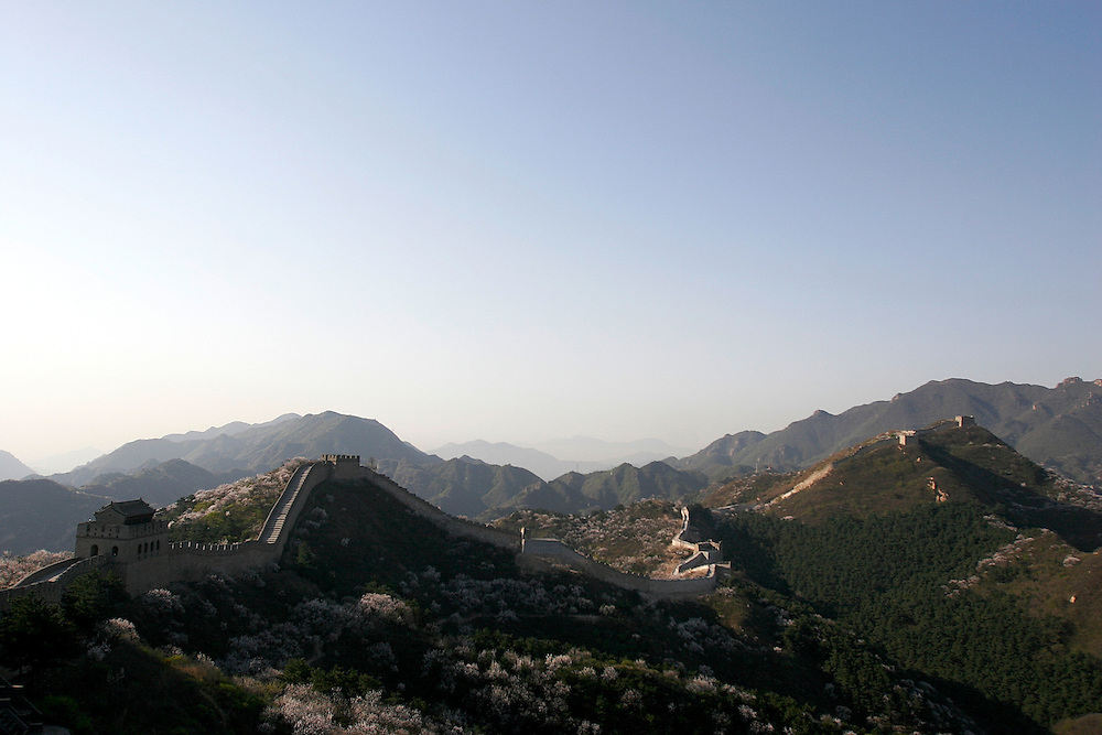 The Badaling section of The Great Wall in China.