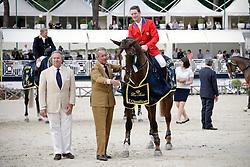 Ward Mclain (USA) - Sapphire with Pierluigi and Sergio Loro Piana<br /> Gran Premio - 78° Piazza di Siena<br /> Rome 2010<br /> © Hippo Foto - Beatrice Scudo