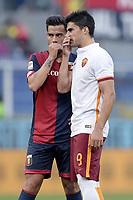 Fernandez Suso Genoa,  Diego Perotti Roma <br /> Genova 02-05-2016 Football Calcio Serie A 2015/2016  Genoa - AS Roma foto Image Sport/Insidefoto