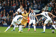 Mousa Dembele of Tottenham Hotspur © dives in the challenge as he looks for a free-kick. Premier league match, West Bromwich Albion v Tottenham Hotspur at the Hawthorns stadium in West Bromwich, Midlands on Saturday 15th October 2016. pic by Andrew Orchard, Andrew Orchard sports photography.