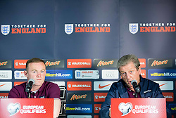 Wayne Rooney and Roy Hodgson, manager during press conference of England National Football Team 1 day before Euro 2016 Qualifications match against Slovenia, on June 13, 2015 in SRC Stozice, Ljubljana, Slovenia. Photo by Vid Ponikvar / Sportida