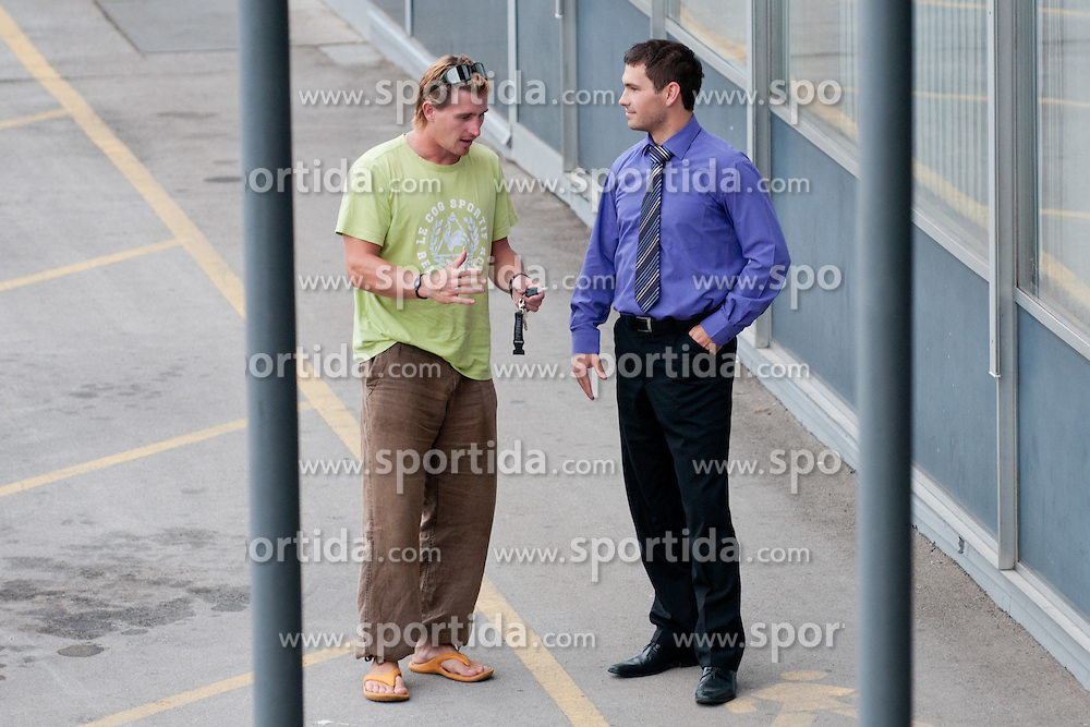 Jaka Avgustincic in Igor Angelovski na skupscini Hokejske zveze Slovenije, on September 7, 2011, in Ljubljana, Slovenia. (Photo by Matic Klansek Velej / Sportida)