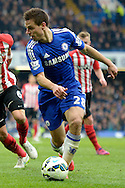 Cesar Azpilicueta of Chelsea in action. Barclays Premier league match, Chelsea v Southampton at Stamford Bridge in London on Sunday 15th March 2015.<br /> pic by John Patrick Fletcher, Andrew Orchard sports photography.