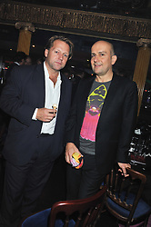 Left to right, DAVID ROSS and MARC QUINN at the Hoping Variety Show - A benefit evening for Palestinian Refugee Children held at The Cafe de Paris, Coventry Street, London on 21st November 2011.