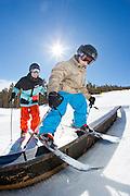 Skiing at Keystone, Colorado