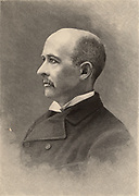 William Graham Sumner (1840-1910), American sociologist, economist, and protagonist of Social Darwinism.  Professor of sociology at Yale University.  From 'The Popular Science Monthly' (New York, June 1889).