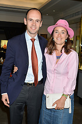 BALTHAZAR FABRICIUS and his wife at a party to celebrate the publication of the Summer edition og the Fitzdares Times held at Theo Fennell, 169 Fulham Road, London on 13th June 2016.