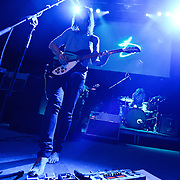 """WASHINGTON, DC - February 14th  2013 - Dominic Simper, Kevin Parker and Julien Barbagallo of Tame Impala perform at the 9:30 Club in Washington, D.C.  The band's sophomore album, """"Lonerism,"""" was released in October of 2012 and won numerous album of the year awards across the globe, including NME, Rolling Stone and Australia's Triple J radio. (Photo by Kyle Gustafson/For The Washington Post)"""