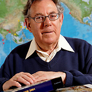 """FOR MORE IMAGES, PLEASE SEARCH MY ARCHIVE FOR """"PAUL CRUTZEN""""<br /> <br /> Dr. Paul Crutzen, Nobel Prize winner who worked on the interactions of atmospheric chemistry with climate, the role of halogen photochemistry with ozone in the marine boundary layer and the global modeling of atmospheric chemical processes with stratosphere and troposphere, in a lab at the University of San Diego in La Jolla, California."""