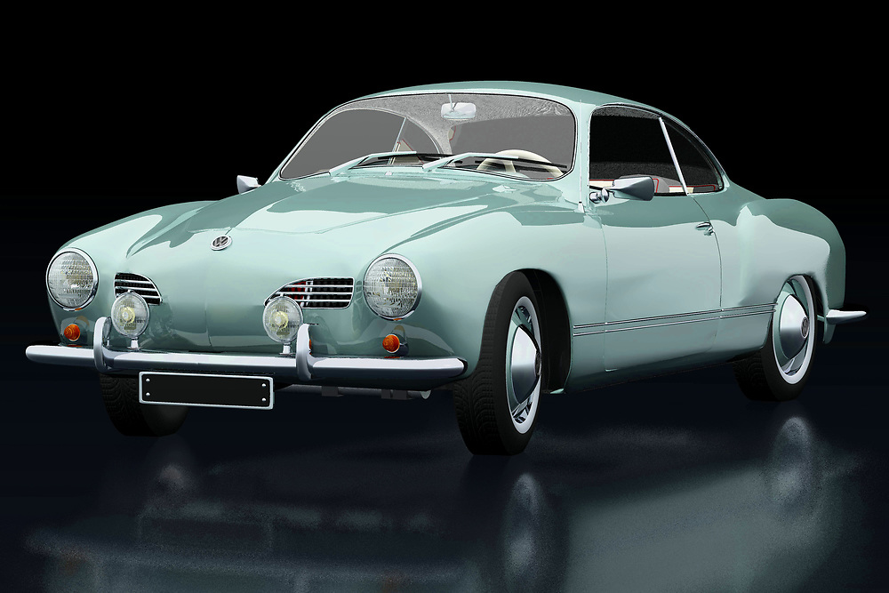 The Volkswagen Karmann Ghia was built to boost Volkswagen's image. Here Jan Keteleer has shown this Volkswagen Karmann Ghia in an original color from 1959 seen from the side. Volkwagen has with this Karmann Ghia one of the most beautiful Volkswagens ever made. - -<br /> <br /> BUY THIS PRINT AT<br /> <br /> FINE ART AMERICA<br /> ENGLISH<br /> https://janke.pixels.com/featured/volkswagen-karmann-ghia-three-quarter-view-jan-keteleer.html<br /> <br /> WADM / OH MY PRINTS<br /> DUTCH / FRENCH / GERMAN<br /> https://www.werkaandemuur.nl/nl/shopwerk/Volkswagen-Karmann-Ghia/742443/132?mediumId=11&size=75x50<br /> <br /> -