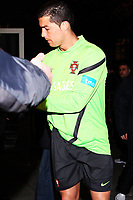 20120227: WARSZAWA, POLAND - Portugal players go out of Sheraton Hotel and drive for an evening workout in Warszawa, Poland.<br /> In photo: Cristiano Ronaldo.<br /> PHOTO: CITYFILES
