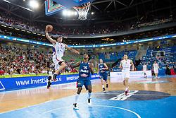 Nemanja Nedovic #4 of Serbia dunks during basketball match between national team of Serbia and France of Eurobasket 2013 on September 15, 2013 in SRC Stozice, Ljubljana, Slovenia. (Photo By Matic Klansek Velej / Sportida.com)