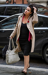 © Licensed to London News Pictures. 07/11/2019. London, UK. Former Lib Dem and Conservative MP HEIDI ALLEN is seen in Westminster, central London. A general election has been called on December 12th in an attempt to get a Brexit agreement through parliament. Photo credit: Ben Cawthra/LNP