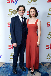 Stephen McGann and Jennifer Kirby attending the TRIC Awards 2019 50th Birthday Celebration held at the Grosvenor House Hotel, London.