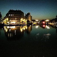 I can't think of a better way to ease my way back into the flow of life in the big city after a beautiful concert than a walk along Canal de l'Ourcq