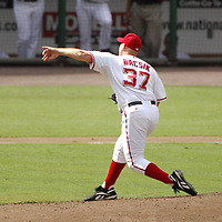 21 July 2007:  Washington Nationals pitcher Mike Bacsik (37) pitches in the 4th inning against the Colorado Rockies.  The Nationals defeated the Rockies 3-0 at RFK Stadium in Washington, D.C.  ****For Editorial Use Only****
