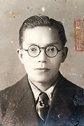 old pasport style identity portrait Japan ca 1930s