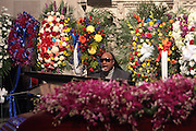 6 January 2010- New York NY- Stevie Wonder at the Percy E. Sutton's Funeral held at The Riverside Church on January 6, 2010 in New York City. Photo Credit: Terrence Jennings/Sipa