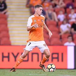 BRISBANE, AUSTRALIA - DECEMBER 21: Thomas Kristensen of the Roar in action during the Round 12 Hyundai A-League match between Brisbane Roar and Perth Glory on December 21, 2017 in Brisbane, Australia. (Photo by Patrick Kearney / Brisbane Roar FC)