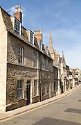 All Saints church spire, Church Street, Stamford, Lincolnshire, England, UK