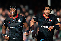 Rugby Union - 2019 / 2020 European Rugby Heineken Champions Cup - Pool Four: Saracens vs. Racing 92<br /> <br /> Saracens' Maro Itoje with Will Skelton, at Allianz Park.<br /> <br /> COLORSPORT/ASHLEY WESTERN