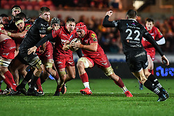 Scarlets' Josh Macleod in action during todays match - Mandatory by-line: Craig Thomas/Replay images - 26/12/2017 - RUGBY - Parc y Scarlets - Llanelli, Wales - Scarlets v Ospreys - Guinness Pro 14