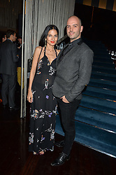 YASMIN MILLS and JUSTIN HORNE at a dinner to celebrate the start of The Season held at Rivea, Bulgari Hotel, 171 Kightsbridge, London on 18th May 2016.
