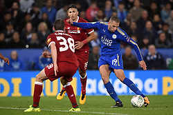 Leicester City's Islam Slimani scores his teams second goal