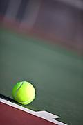 Stock Photo Of Tennis Ball on Court