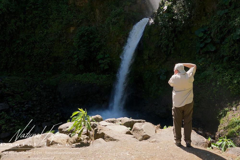 Paul sooting a waterfall in Costa Rica.