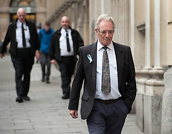 © Licensed to London News Pictures. 11/11/2015. Bristol, UK.  JOHN GALSWORTHY, the grandfather of murder victim Rebecca Watts, leaves Bristol Crown court at the end of the first day in the Rebecca Watts' murder trial.  Photo credit : Simon Chapman/LNP