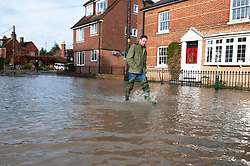 ©Licensed to London News Pictures 22/12/2019. <br /> Yalding ,UK. Lees road flooded, Yalding Village.  The River Medway and River Beult have bursts their banks causing severe flooding in Yalding village,Kent. Photo credit: Grant Falvey/LNP