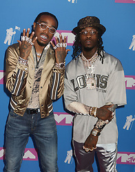 August 20, 2018 - New York City, New York, U.S. - QUAVO  and OFFSET from MIGOS attend the arrivals for the 2018 MTV 'VMAS' held at Radio City Music Hall. (Credit Image: © Nancy Kaszerman via ZUMA Wire)