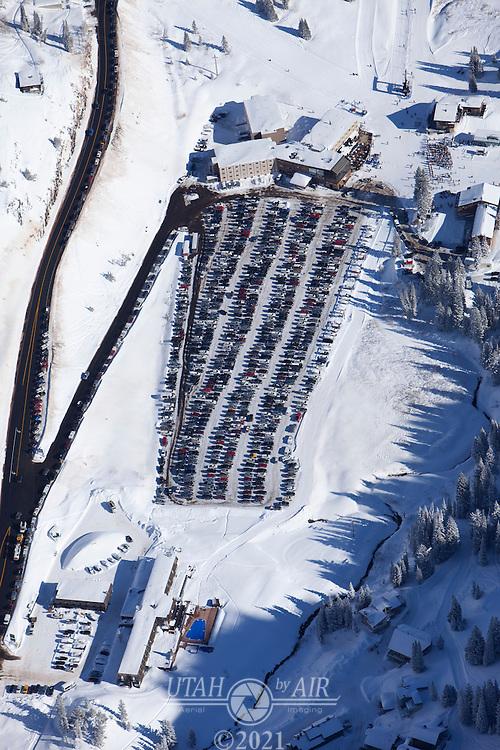 Parking Lot at Wildcat Base, Alta