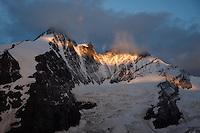 Dawn at Grosglockner Mountain, the highest peak of Austria, Hohe Tauern National Park, Carinthia, Austria