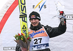 Adam Malysz (POL) placed second at Flying Hill Individual in 2nd day of 32nd World Cup Competition of FIS World Cup Ski Jumping Final in Planica, Slovenia, on March 20, 2009. (Photo by Vid Ponikvar / Sportida)