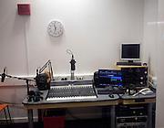 Student radio studio Suffolk New College, Ipswich, England