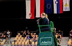 Umpire Ana Sodnik during the Day 2 of Davis Cup 2018 Europe/Africa zone Group II between Slovenia and Poland, on February 4, 2018 in Arena Lukna, Maribor, Slovenia. Photo by Vid Ponikvar / Sportida