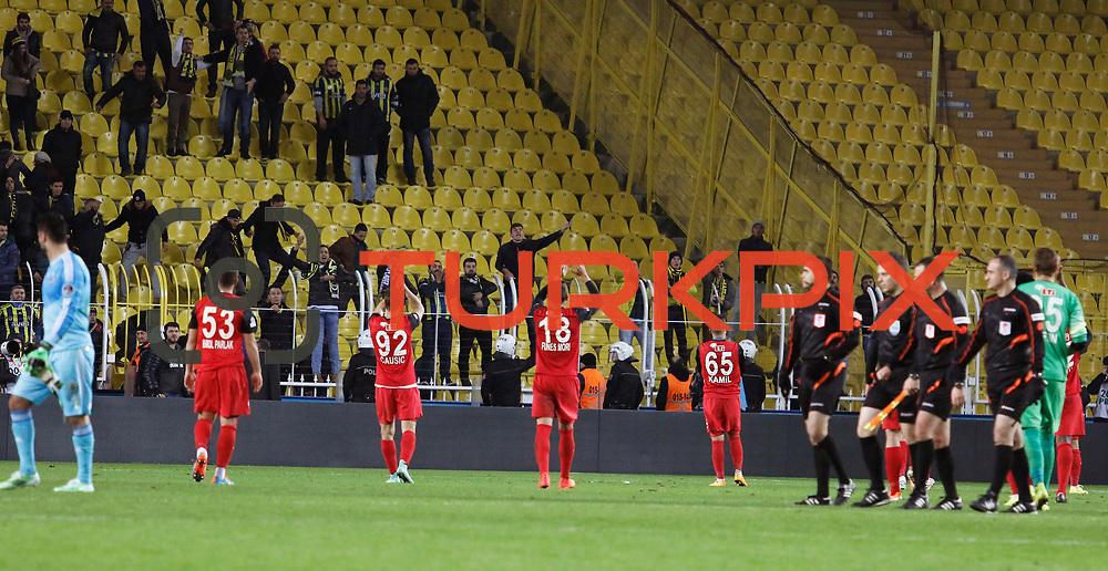 Eskisehirspor's players during their Turkish superleague soccer match Fenerbahce between Eskisehirspor at the Sukru Saracaoglu stadium in Istanbul Turkey on Saturday 30 November 2014. Photo by Kurtulus YILMAZ/TURKPIX