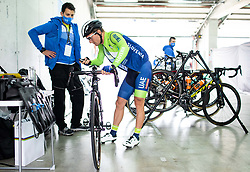 Klemen Tusek and Jan Polanc of Team Slovenia prior to the Men Elite Road Race at UCI Road World Championship 2020, on September 27, 2020 in Imola, Italy. Photo by Vid Ponikvar / Sportida