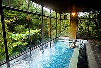 Onsen (hot spring bath), Kayotei Ryokan (traditional Japanese style inn), Yamanaka Onsen (Yamanaka Hot Springs), Japan