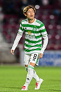 Kyogo Furuhashi (#8) of Celtic FC during the Cinch SPFL Premiership match between Heart of Midlothian FC and Celtic FC at Tynecastle Park, Edinburgh, Scotland on 31 July 2021.