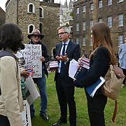 """James Wild come and show support to the Norfolk community protest to """"Save the Queen Elizabeth hospital"""" at Old Palace Yard, London, UK on 2021-09-15"""