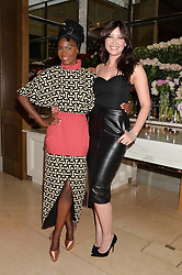 Left to right, SHINGAI SHONIWA and DAISY LOWE at a screening of 2 short films as part of the Corinthia Hotel's Artist in Residence held at The Corinthia Hotel, Northumberland Avenue, London on 12th May 2014.