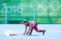 RIO DE JANEIRO  (Brazilië) -  Löick Luypaert  (Belg.) during the poulematch hockey men Belgium v Great Britain (4-1),   Olympic Games 2016 . Copyright Koen Suyk