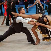 Igor Lounev & Ekaterina Prokhorova of Russia perform their dance during the latin-american competition of the UK Open dance competition at the International Centre in Bournemouth, United Kingdom on Tuesday, 22. January 2008.<br /> Photo by Attila Volgyi / blog.volgyiattila.com