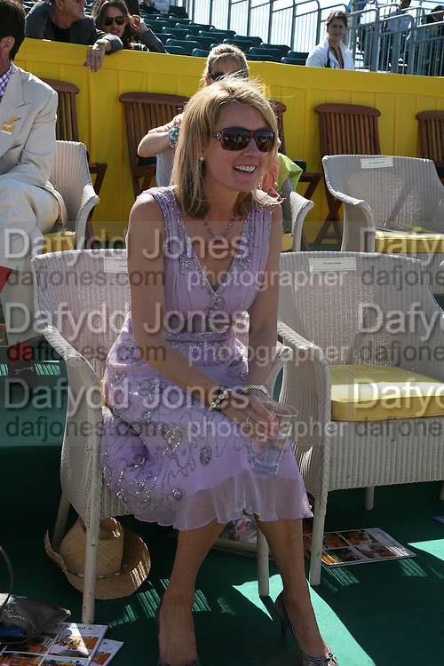 Lady Marina Cowdray, The Veuve Clicquot Gold Cup 2007. Cowdray Park, Midhurst. 22 July 2007.  -DO NOT ARCHIVE-© Copyright Photograph by Dafydd Jones. 248 Clapham Rd. London SW9 0PZ. Tel 0207 820 0771. www.dafjones.com.